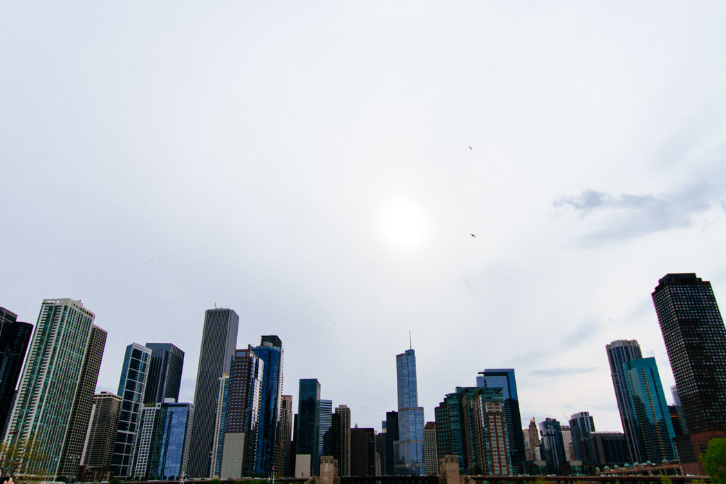 Landscape view of the Chicago skyline